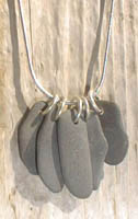 Five-piece beachstone pendant
